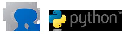 logo de r y python